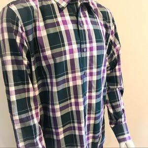 ZACHARY PRELL Plaid Long Sleeve Button Down Shirt